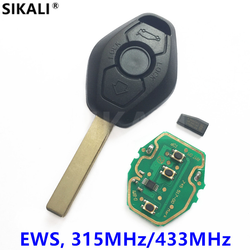 Remote Car Key for BMW EWS System PCF7935 Chip 315MHz or 433MHz for X3 X5 Z3 Z4 1/3/5/7 Series HU92 Blade ...