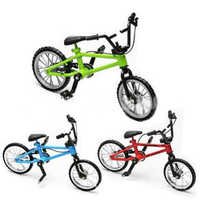 Baby Boy Toys Finger Skateboards Bicycle With Brake Rope Blue Simulation Alloy Finger Bike Toys For Children Gift Mini Size