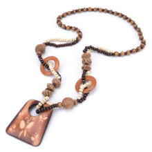 Women Jewelry Wooden Natural