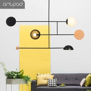 Image 5 - Artpad Creative נברשת תאורה E14 תקרת מוט תליית אור אוכל חדר שינה סלון בית גופי תאורה
