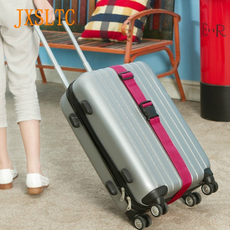 Travel Essential Trolley Luggage Strap Belt Suitcase Adjustable Security Rope Case Travel Accessories Luggage Reinforcement Belt