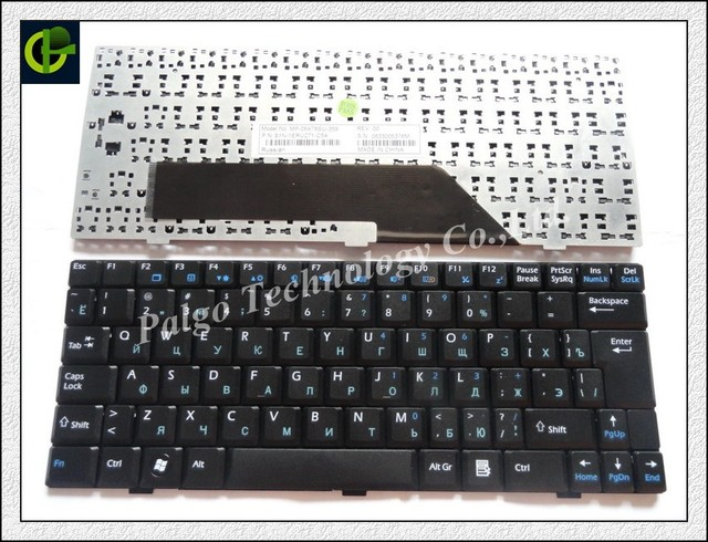 Russian Keyboard for MSI Wind U9 U90 U90X U100 U100X U101 U101B U101C U110 U120 U130 N011 U115 U123 U123H U123T Black RU
