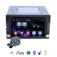 6.2 GPS Navigation 2 Din Car Stereo DVD CD Player Bluetooth Touch Screen Auto FM AM Radio Autoradio with Rearview Camera