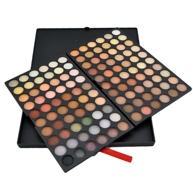 2 conjunto Pro 120 Completa Cores Da Paleta Da Sombra Da Sombra de Olho Cosméticos Sombra Maquiagem Sombra Paleta Fosco Maquiagem