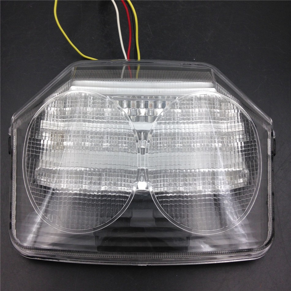 Aftermarket free shipping motorcycle parts LED Tail Light Brake Turn Signals For Honda CB1300 2003 CB400 2003-2008 CLEAR aftermarket free shipping motorcycle parts led tail brake light turn signals for honda 2000 2001 2002 2006 rc51 rvt1000r smoke