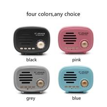 цена на Q108 bluetooth speakers portable Vintage Mini Speaker FM Radio Music Stereo Music bluetooth speaker fm radio for phones,TF,USB