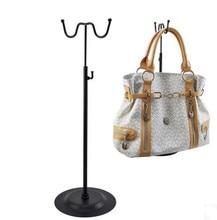10 pcs Plated metal double-sided handbag bracket black adjustable handbag bag display rack stand holder
