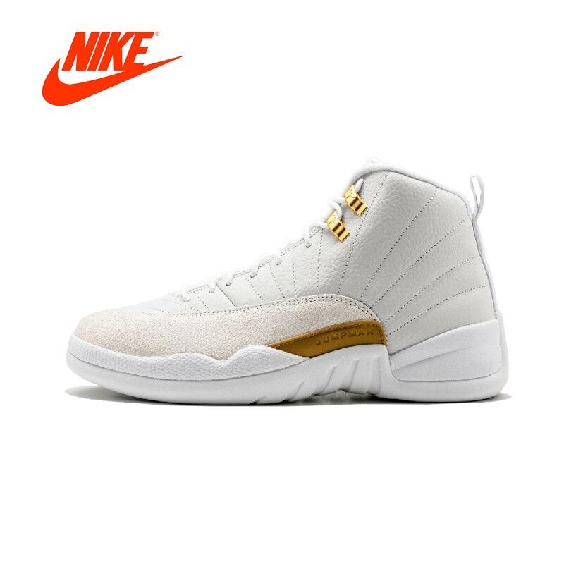D'origine NIKE Air Jordan 12 Rétro OVO octobre de Très Propre Mens Basketball Chaussures Nike Sneakers pour Hommes Respirant Sport