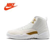 Оригинальный NIKE Air Jordan 12 Ретро ОВО «самого октября» для мужчин s баскетбольные кеды кроссовки для дышащая Спортивная обувь