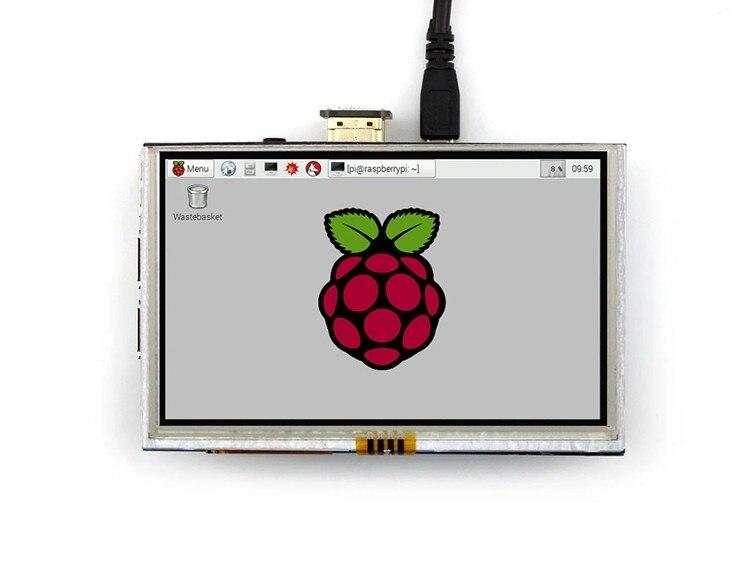 Livraison Gratuite 1 pcs/lot 5 pouces framboise pi 2 LCD Écran 800x480 A +/B +/2B Framboise pi2 HDMI LCD Écran Modules