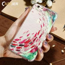 CASEIER Fish Mermaid Phone Case For iPhone 6 6s Plus 7 8 Plus 3D Relief Soft Silicone Cases For iPhone 5 5s SE X Funda Capinha цена и фото