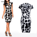 COCOEPPS Vestidos 2017 Leopard Тонкий Карандаш Платья Плюс Размер Женская Одежда Повседневная Бинты Bodycon Лето Dress Халат
