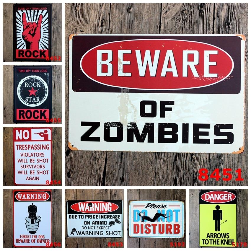 danger warning metal tin signs no smoking signage home decor wall art painting plaque vintage. Black Bedroom Furniture Sets. Home Design Ideas