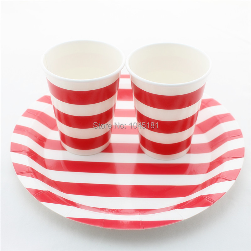 Aliexpress Ipalmay Wedding Birthday Decor Disposable Chevron Striped Dot Party Drinking Paper Cups Plates From Reliable