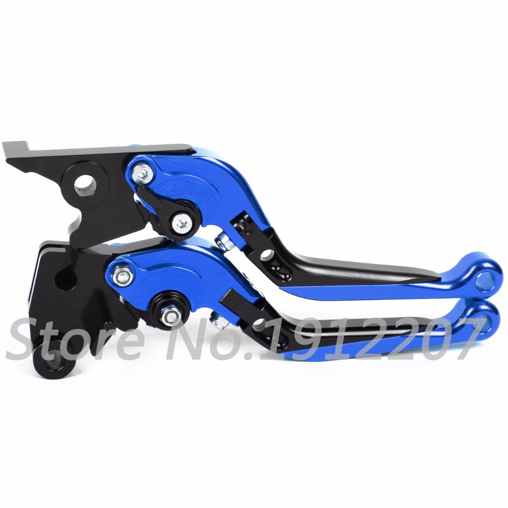 ФОТО For Yamaha YZF-R25 2014-2015 Foldable Extendable Brake Clutch Levers Aluminum Alloy CNC A Pair High Quality Folding&Extending