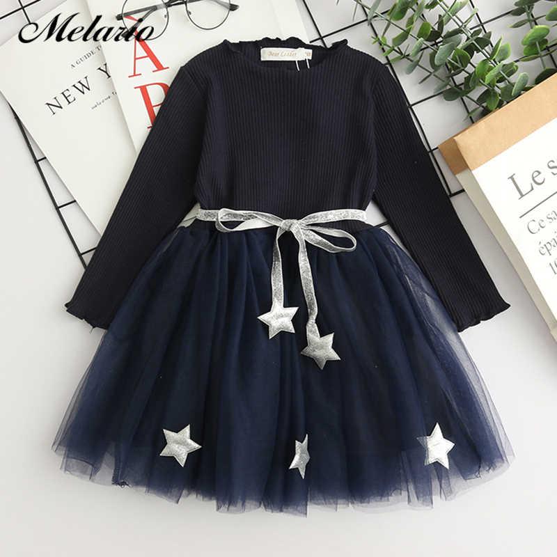 bdbdfd060413 Melario Girls Dress Autumn New White Princess Denim Dress Full Sleeve Cotton  Children kids dresses for
