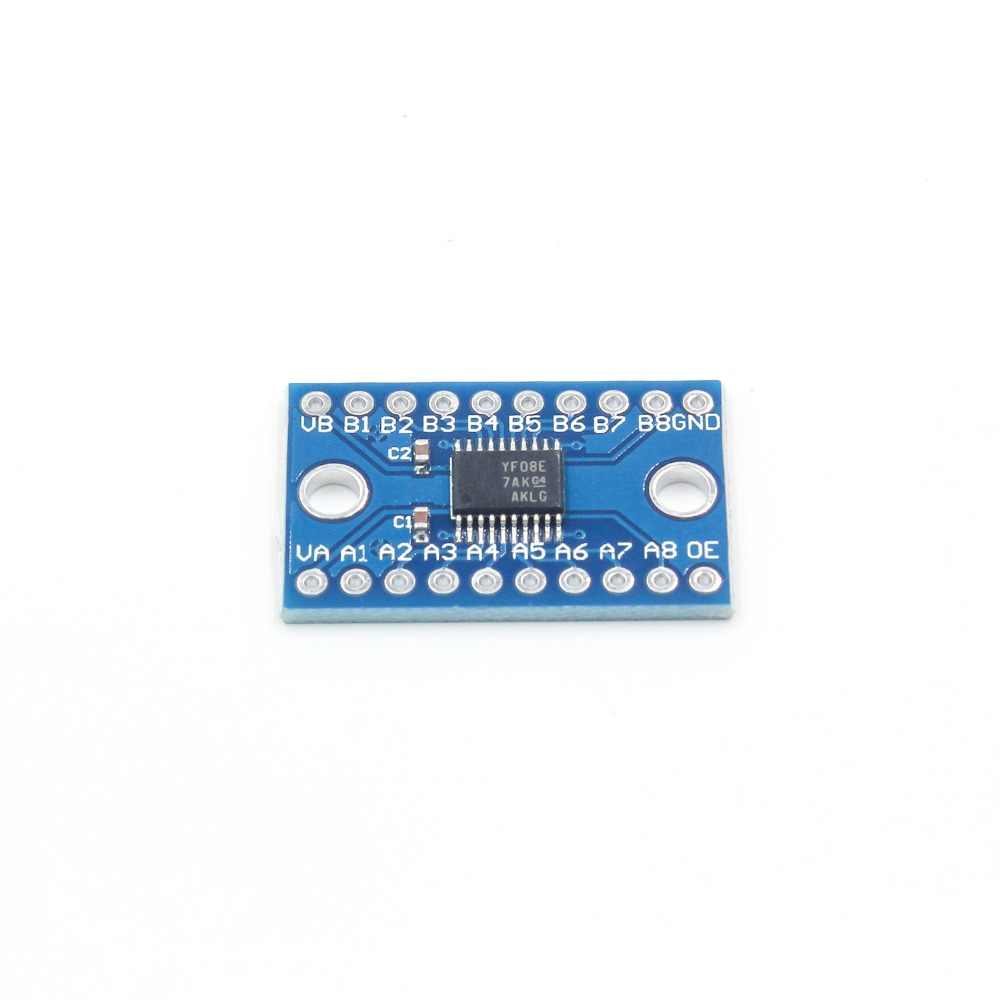 3.3V 5V TXS0108E 8 قناة المنطق مستوى محول تحويل TTL ثنائية الاتجاه المتبادل تحويل