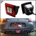 JDM Estilo Asamblea Luz Antiniebla Trasera LED Para 2009-up Nissan 370Z (Integrado Luz Antiniebla Trasera, Luz de freno, Características de La Luz de copia de seguridad)