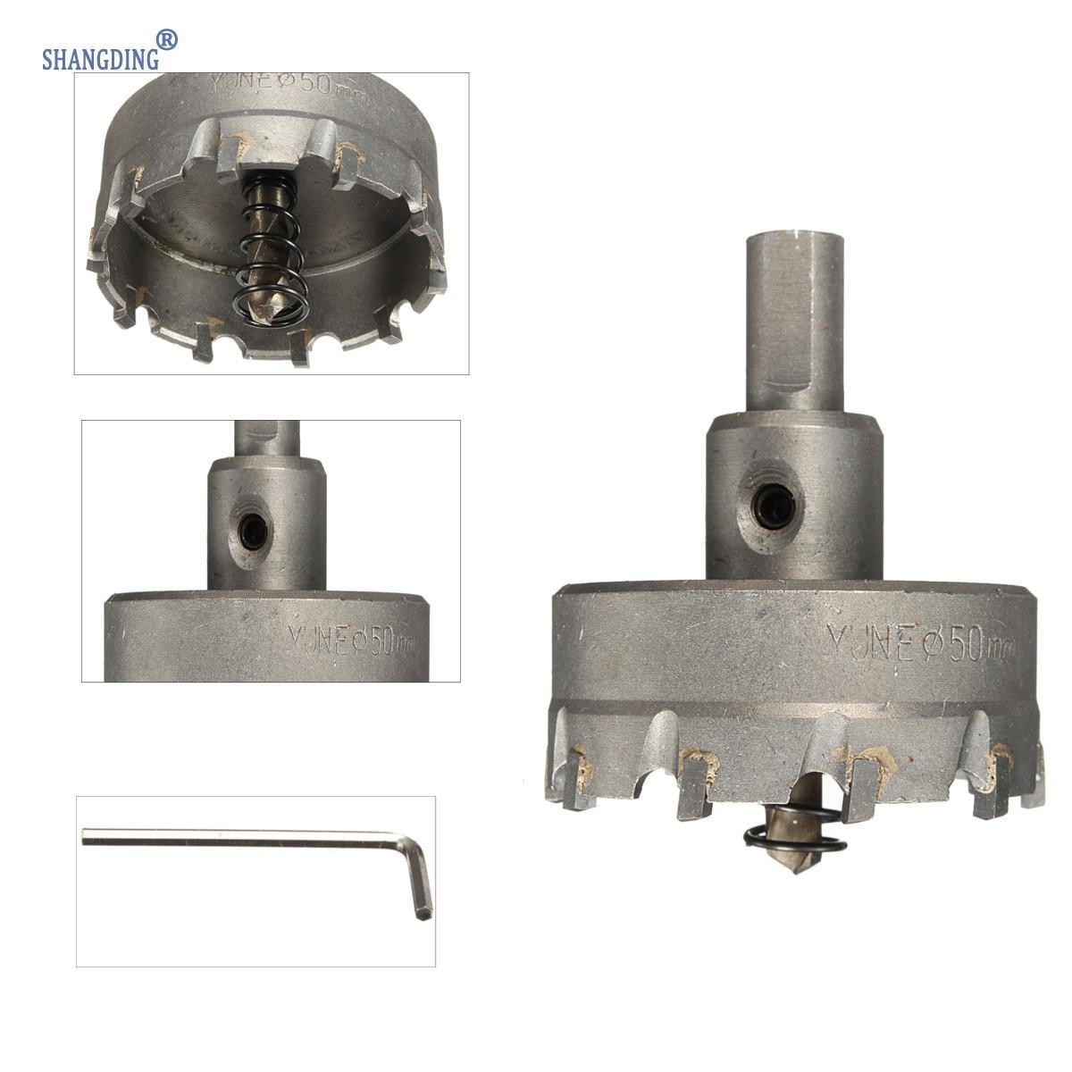1 Set 48mm Carbide Tip TCT Boor Metalen Gatenzaag met Spanner - Boor - Foto 1