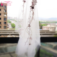 Amazing Beautiful Bridal Veil Flower Hair Accessories Tulle Luxury Turkey Bohemian Fashion Wedding Supplies Z812