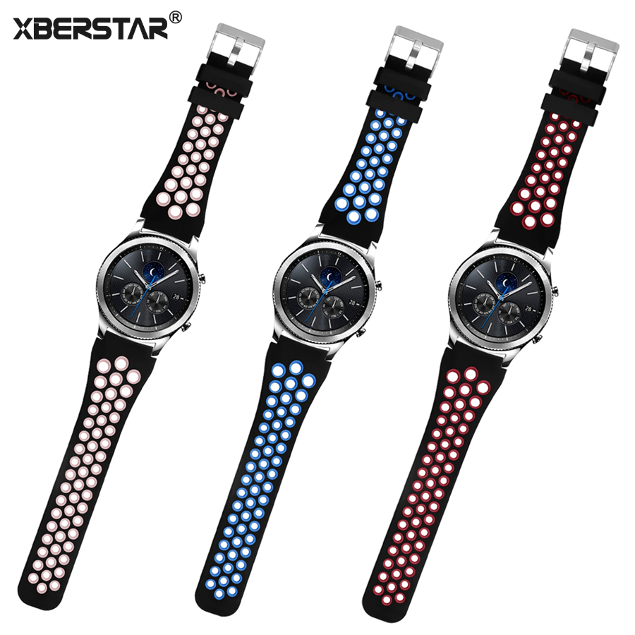 XBERSTAR Replacement Watchband Strap for Samsung Gear S3 Frontier / Classic SM-R760 SM-R770 Smart Watch Band Strap for Gear S3 crested sport silicone strap for samsung gear s3 classic frontier replacement rubber band watch strap for samsung gear s3