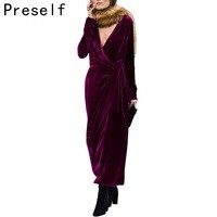 Preself-2016-Fall-Fashion-Chic-Women-Velvet-Sexy-V-Neck-Wraps-Draped-Long-Split-Dress-With.jpg_200x200