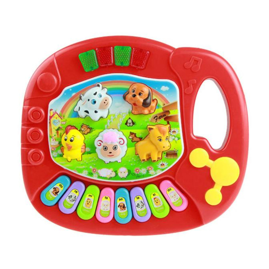 New Baby Kids Musical Educational Animal Farm Piano Developmental Music Toy Free Shipping baby touch farm