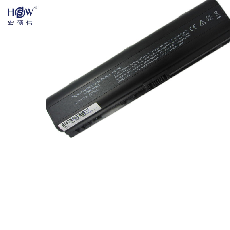 HSW Laptop Battery For HP dv2000 dv2100 dv2200 dv2400 dv2500 dv2600 dv2700 dv2800 dv6000 dv6100 dv6200 dv6300 dv6400 bateria in Laptop Batteries from Computer Office