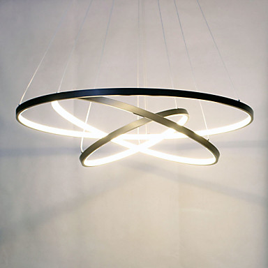 Светодиодный 3 80 + 60 + 40 см кольцо 90 wpendant свет современный Дизайн/светодиодный три Кольца/220V ~ 240/100 ~ 120 В/специальные для офиса, showroom Гостиная
