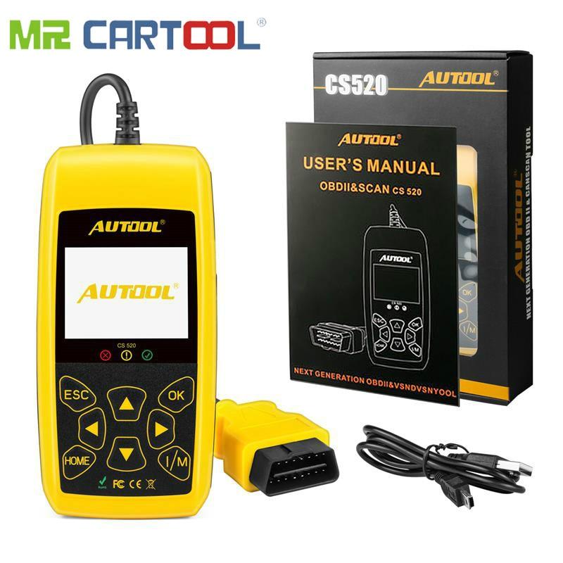 MR CARTOOL CS520 OBD2 Scanner Automotive Car OBD 2 Code Reader Smart Scan Tool Digital Diagnostic Tool LED Dispaly PK x431