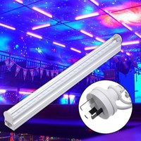 Smuxi 30CM 5W LED UV Stage Light Bar Black Disco Projection Lighting Party Christmas Lamp Indoor