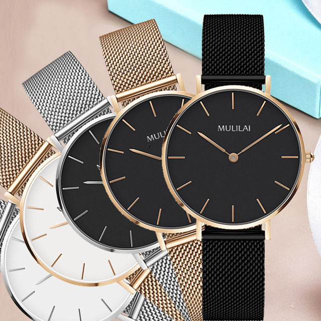 2018 New Luxury Brand Quartz Watch Fashion Women Rose Gold Steel Bracelet Watch