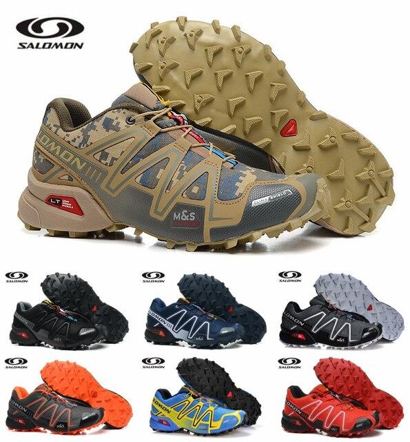 Salomon Скорость Крест 3 открытый для мужчин Спорт Спортивная обувь удобные мужские беговые кроссовки