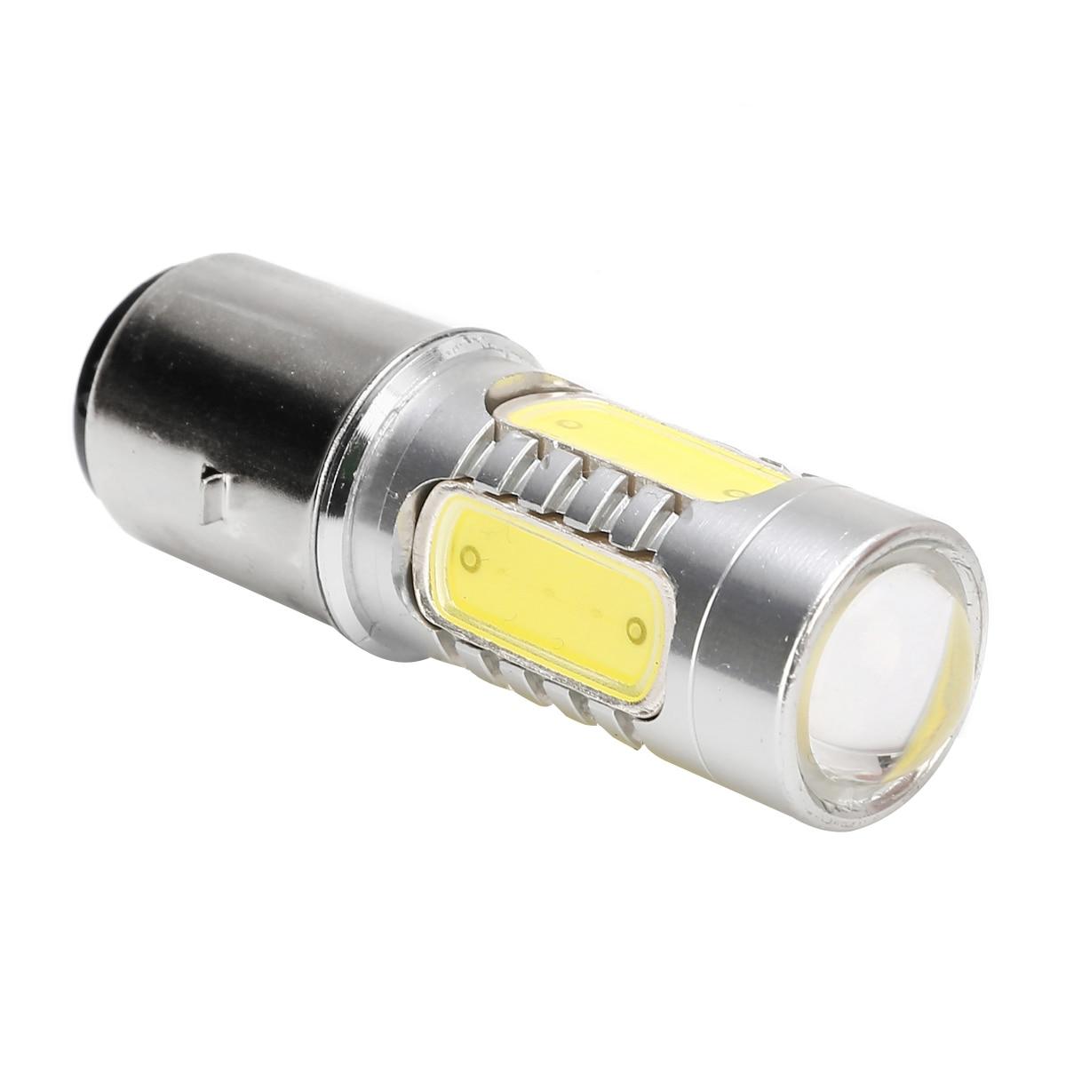 Image 2 - Mayitr 1 шт. BA20D H6 4 COB Светодиодный фонарь для мотоцикла алюминиевый белый Головной фонарь 7,5 Вт лампа для мопеда скутера ATV внедорожный