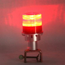 Waterproof solar energy warning light LED traffic signal lamp Burst flashing lights red yellow