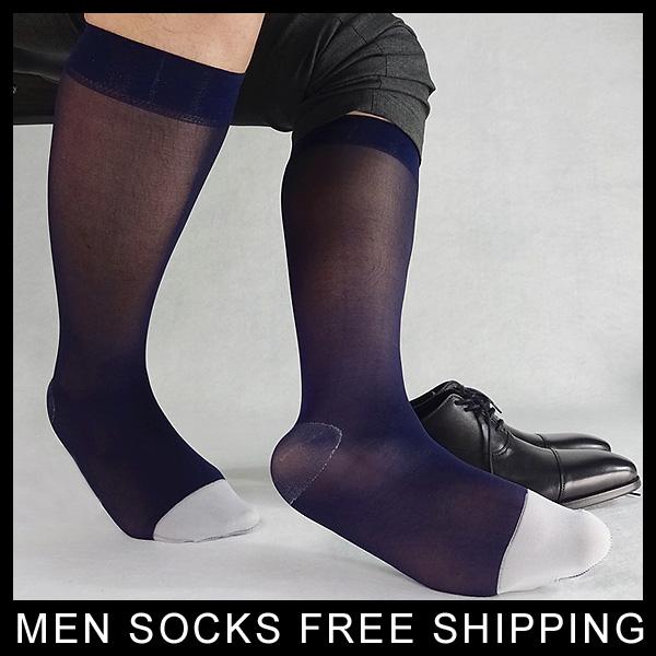 Gay Men Silks Socks Male Formal Suit Dress Hose For Leather Shoes Sexy Breathable Mesh Male Socks Buy One Get One Free Men's Socks