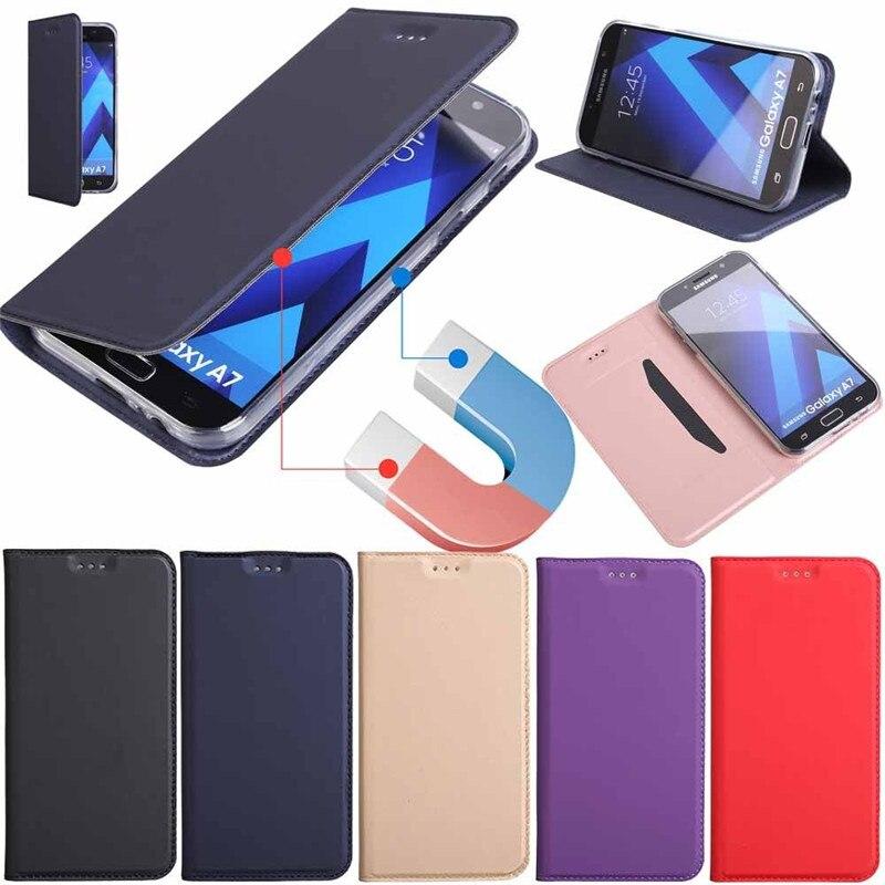 ZEALLION Pour Samsung Galaxy S7 Bord S8 Plus S5 S6 J3 J5 J7 A3 A5 A7 2017 2016 Magnétique Portefeuille Flip PU étui en cuir pour support