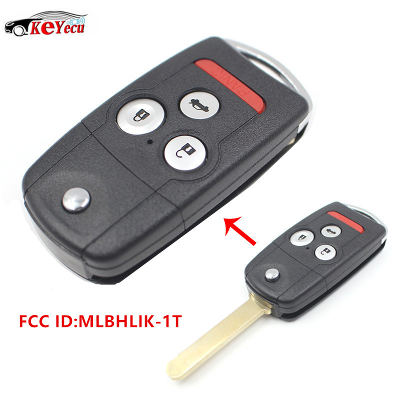 KEYECU 3+1 Button New Replacement Remote Car Key Fob For