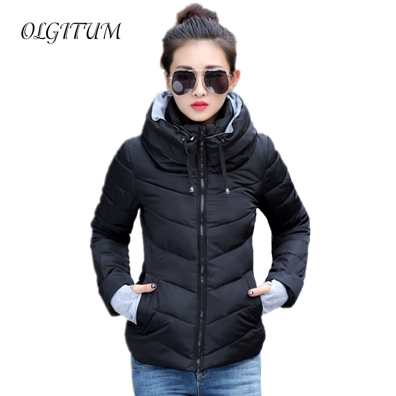 New 2019 women long sleeve warm light down padded winter jacket women parkas for women winter
