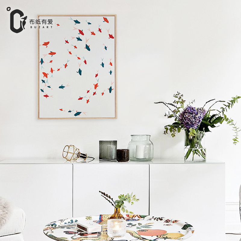 Fish Chinese painting wall pictures for living room beautiful paintings on canvas Home decoration No Frame