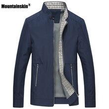 Mountainskin Новый Демисезонный Для мужчин; повседневные куртки, пальто одноцветная Мужская брендовая одежда воротник стоечка мужской куртки-бомберы SA442