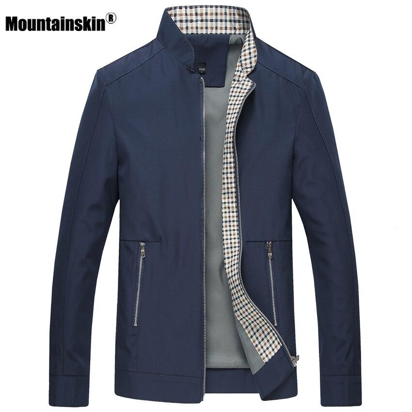Mountainskin nueva primavera otoño hombres chaquetas abrigos Casual Color sólido para hombres ropa de marca Collar hombre chaquetas SA442