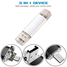 3in1 USB 128GB Flash Drive 3.0 Memory Stick External Storage Photo for New MacBook Type-C Interface Micro and Computer