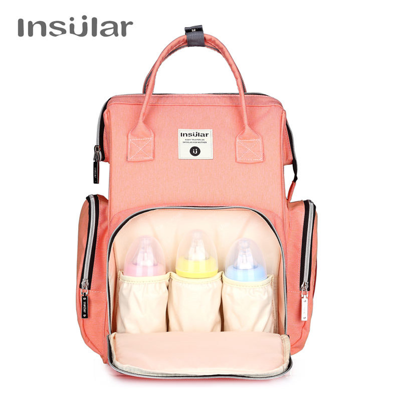 0702ad74d71288 Fashion Multifunction Mother Nappy Diaper Backpack Maternity Baby Bag Women  Travel Back Pack Stroller Hanging Bags Insular Brand