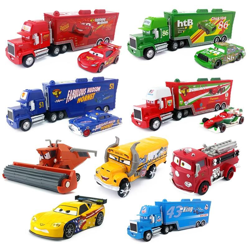 Disney Pixar Cars 2 3 Lightning McQueen Jackson Storm Mack Uncle Truck 1:55 металлическая литая под давлением Модель автомобиля игрушки детские подарки на день рождения