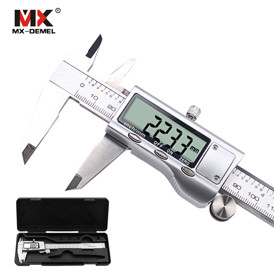 "Vernier Caliper Digital 6 ""150mm Measuring Tool Stainless Steel Measuring Instrument Vernier Calipers Measuring Tool With Box"