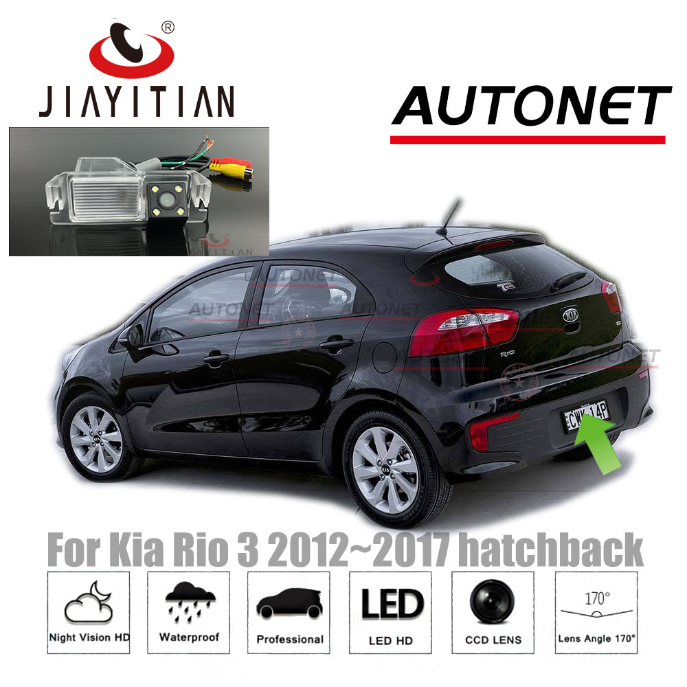 JiaYiTian Rear View Camera For Kia Rio R UB For Kia Pride 2012~2017 CCD Night Vision Reverse Camera License Plate Camera Backup
