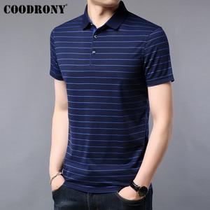 Image 2 - COODRONY T Shirt Men 2019 Summer Soft Cool Short Sleeve T Shirt Men Streetwear Casual Fashion Striped Top Tee Shirt Homme S95075