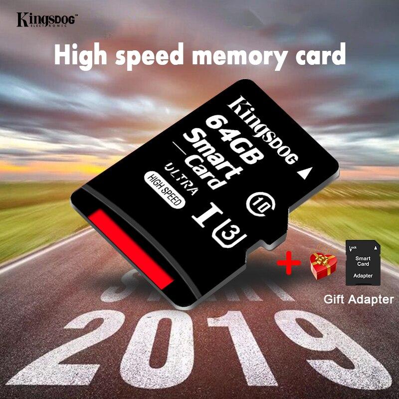 מחשבי וברזי השקיה kingsdog כרטיס זיכרון 32GB 16GB 8GB 128GB 64GB USB כרטיס Class10 TF כרטיס SD 8 16 32 64 128 GB Cartao דה Memoria Carte מתאם בחינם (2)