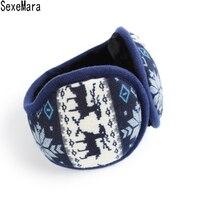 Winter Knitted Earmuffs For Men Foldable Ear Warmers Ear Bag Ear WY069